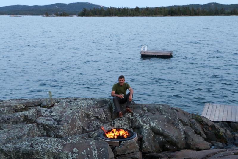 Feuerstelle für den Einsatz in der Hütte