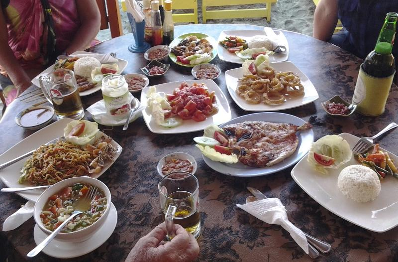 Your catch cooked at White Sand Beach, Sunrise warung.