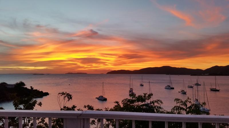 One of many amazing sunsets from Villa Deck