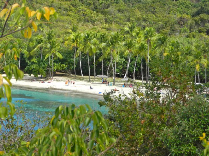View of Honeymoon Beach from deck