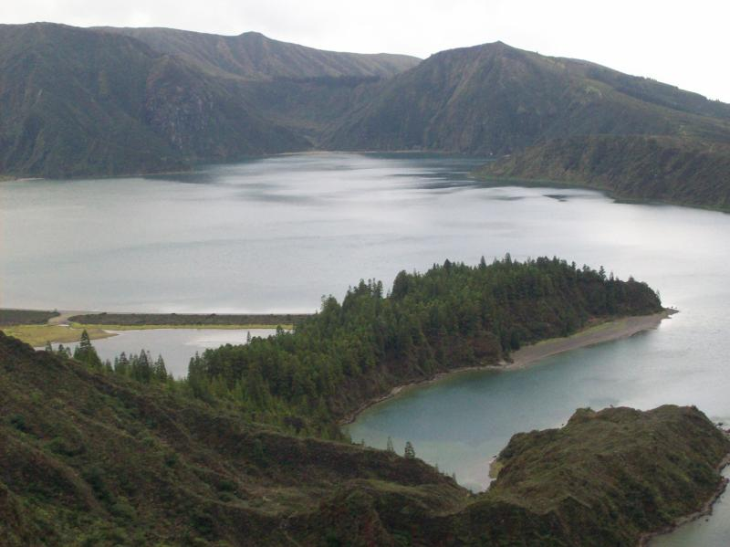 Lake of fire a volcanic crater, and natural reserve, of Portugal.