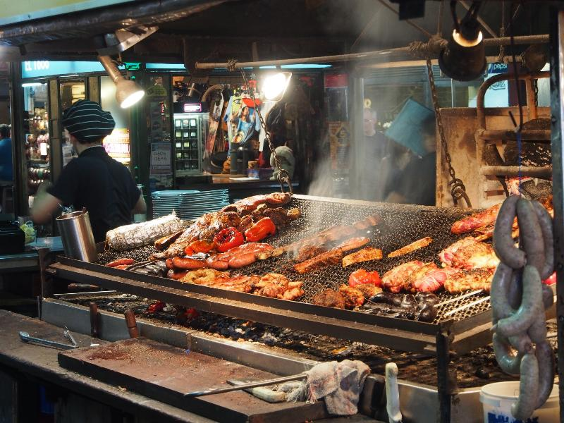 Uruguayan delicacy, food cooked atop the parrilla. Have a drop of the local Tannat with your meal.