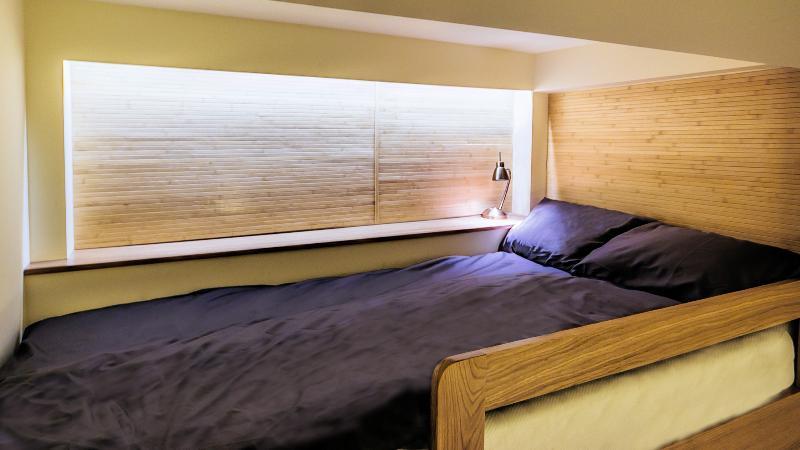 Bedroom 2, upper bed (90cm)