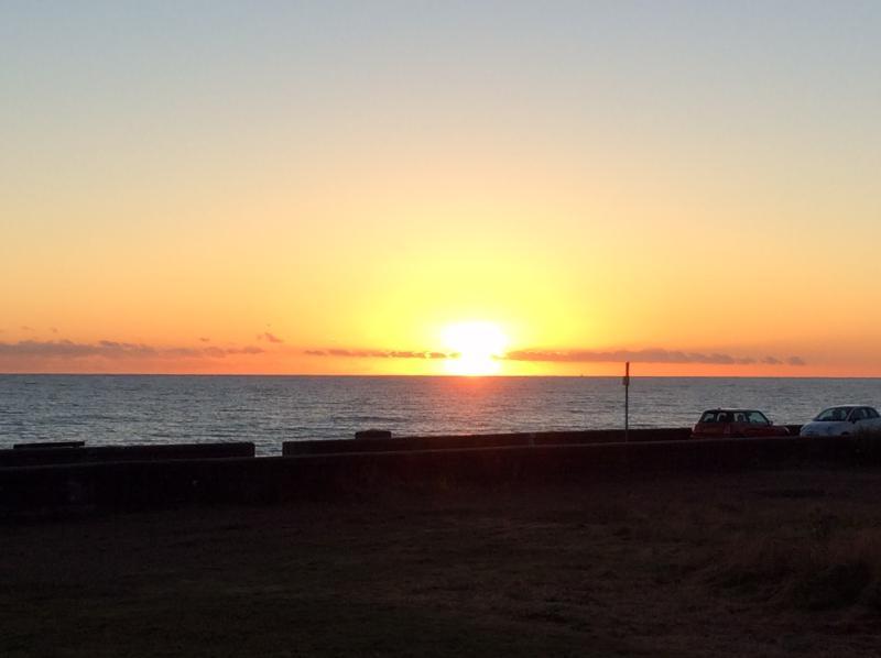Sunset over Seaford Beach