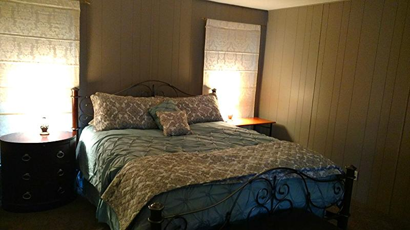 Master Bedroom - King Bed.  New paint, carpets & linens - 2015.