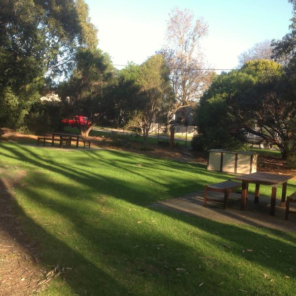 Park across the road with BBQ facilities.  Great space for all the family.  Fabulous play area