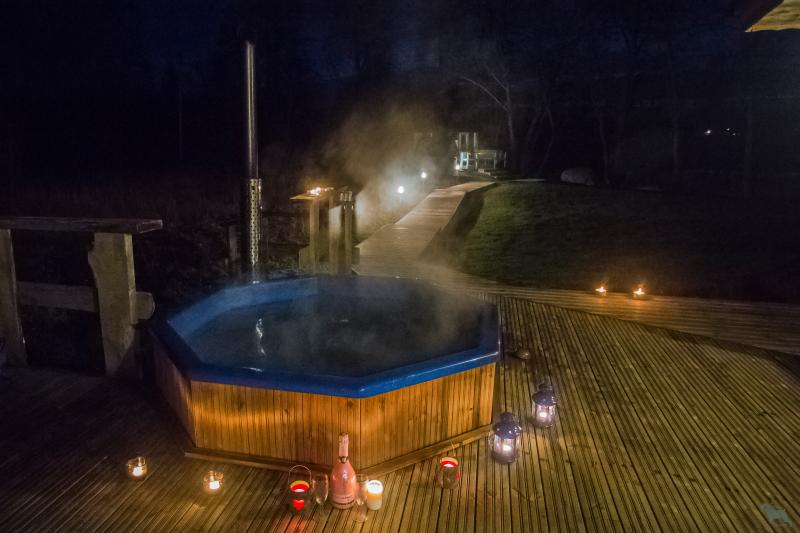 Hot outdoor pool