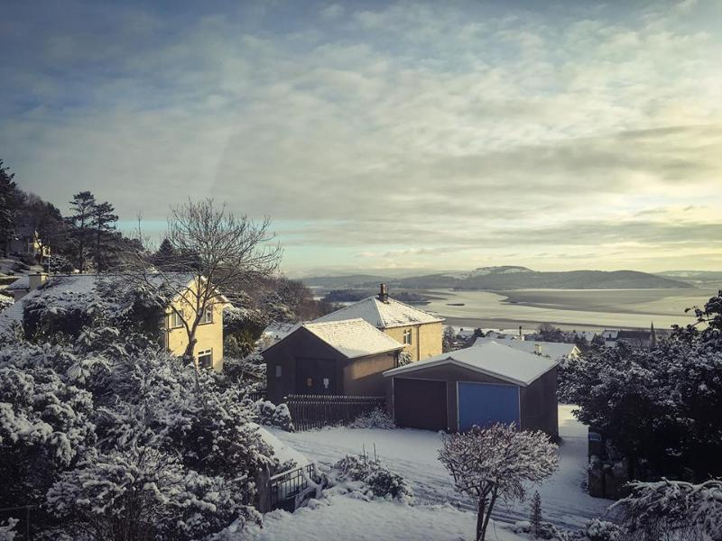 View over the bay in the winter