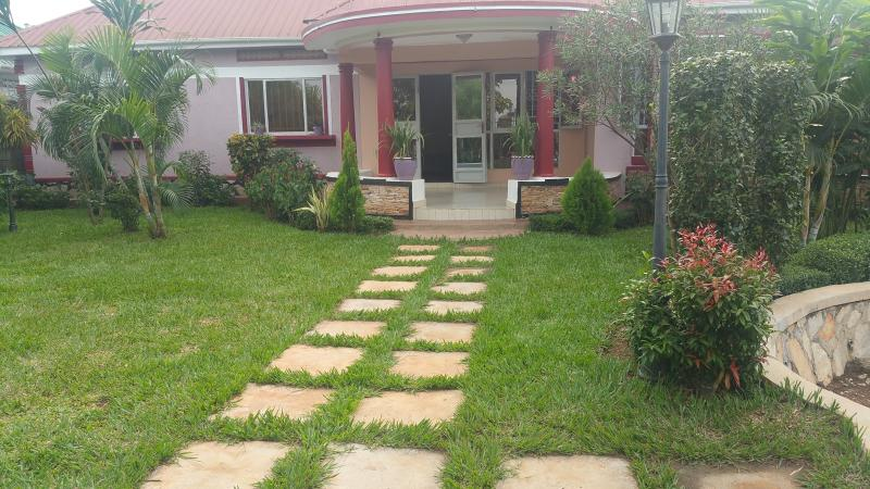 Walkway on the front lawn