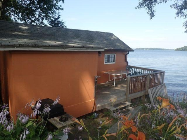 Small cottage with a large deck. Fish straight off the deck or relax and enjoy the gorgeous view!