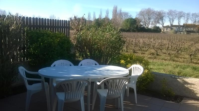 Large sun-terrace from 11 o'clock in the morning until the evening with vineyard views