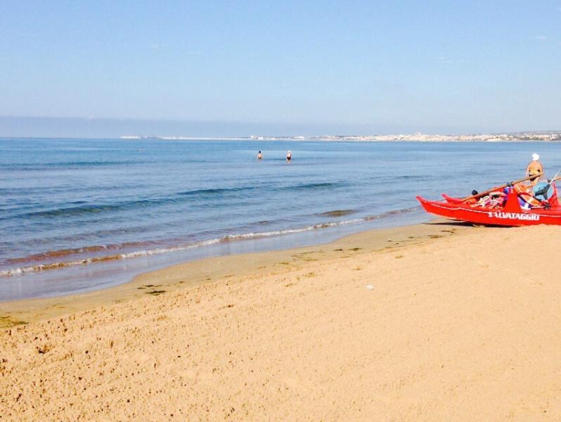 The incredible sandy beach
