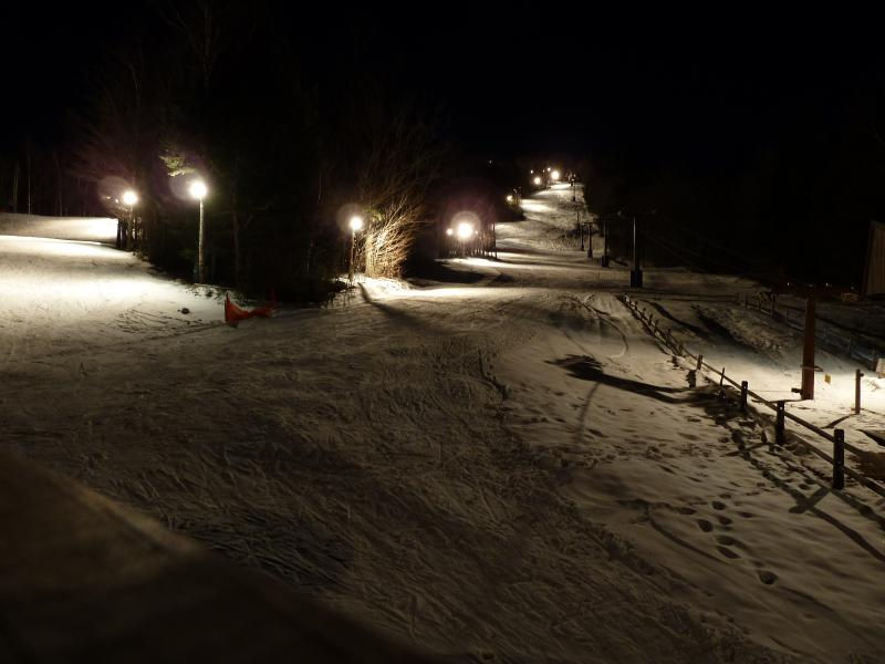 Night Skiing at Waterville Mountain Lodge