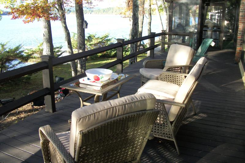 Deck offers spacious comfort -- only you are missing.