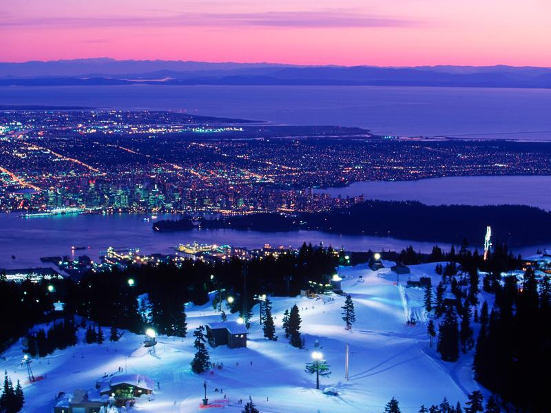 View from the Top of Grouse Mountain - 10 minutes away