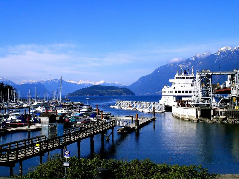 Horseshoe Bay. Ferry to Vcr Isle; boat rentals touring Howe Sound; 15 mins away
