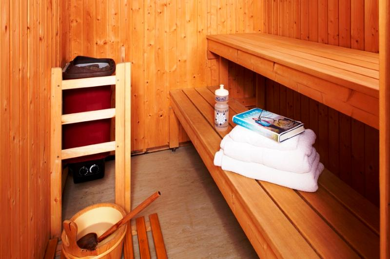 Die Sauna im Keller