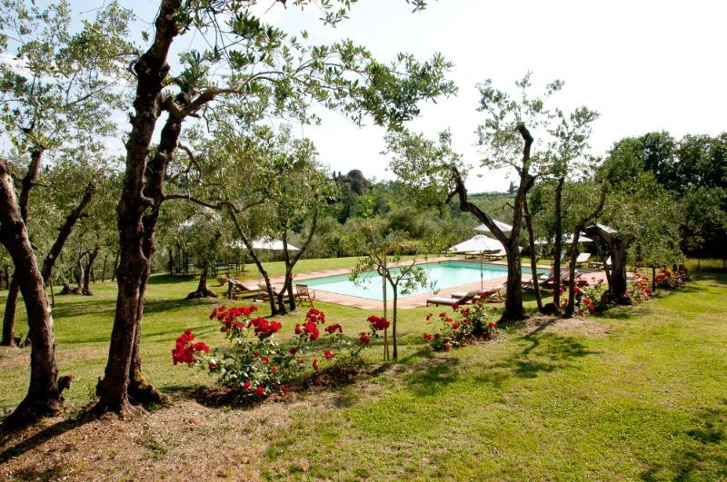 Honeymoon apartment in country villa, holiday rental in Calcinaia