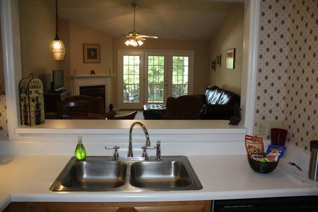 Double sink with dishwasher