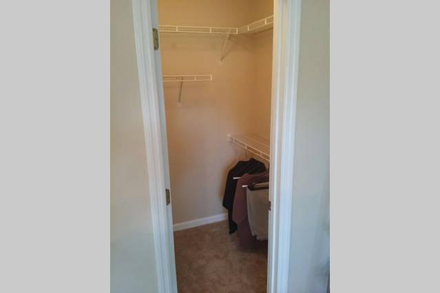 Walk in closet in Guest Bedroom