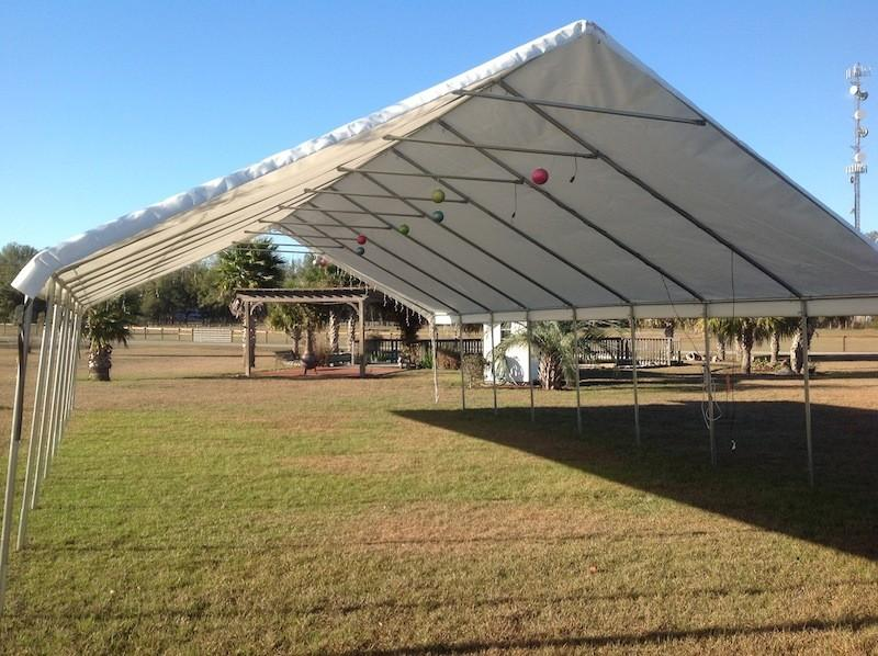 20' x 40' tent available in front of Guest House