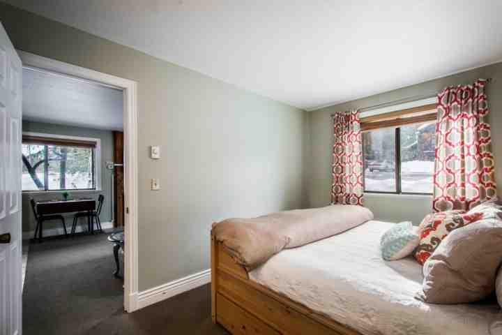 It is comfortably equipped with a queen-size bed, quality linens and bedding, dresser, closet and reading chair.