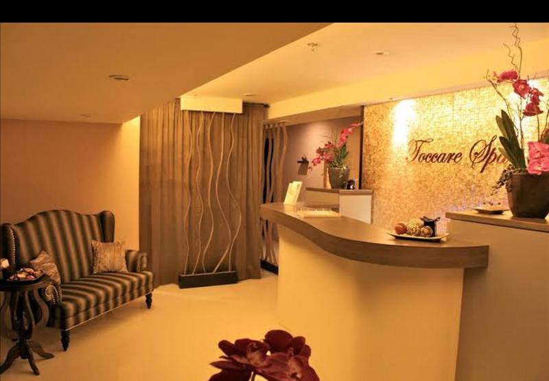 Spa right next door- one of the things I love to do while in Manila...