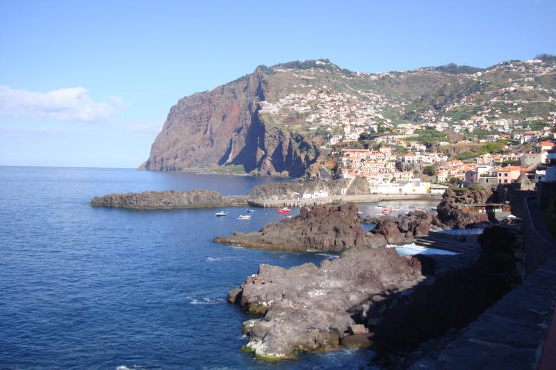 Walking path along the sea and natural pools