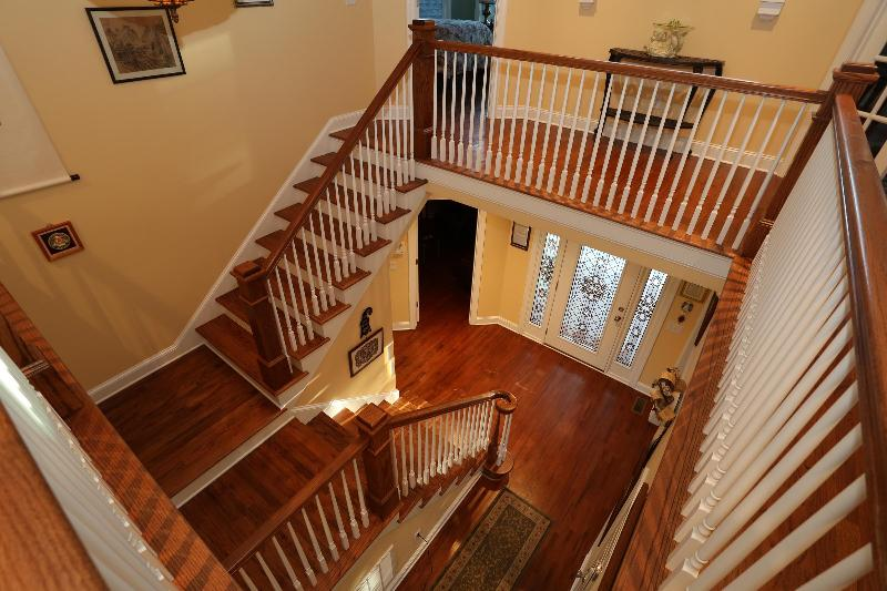 Grand staircase and entrance