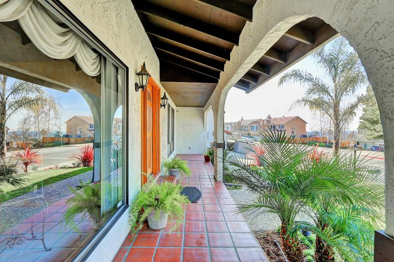 West Coast Villa I front breezeway in classic Spanish Mission style