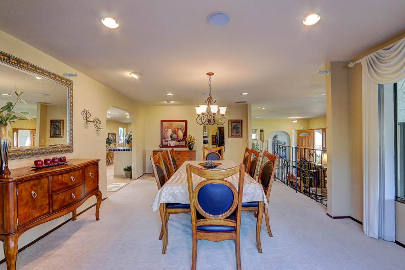West Coast Villa I Formal Dining Room Seats 8. Open floor plan takes you into informal dining room