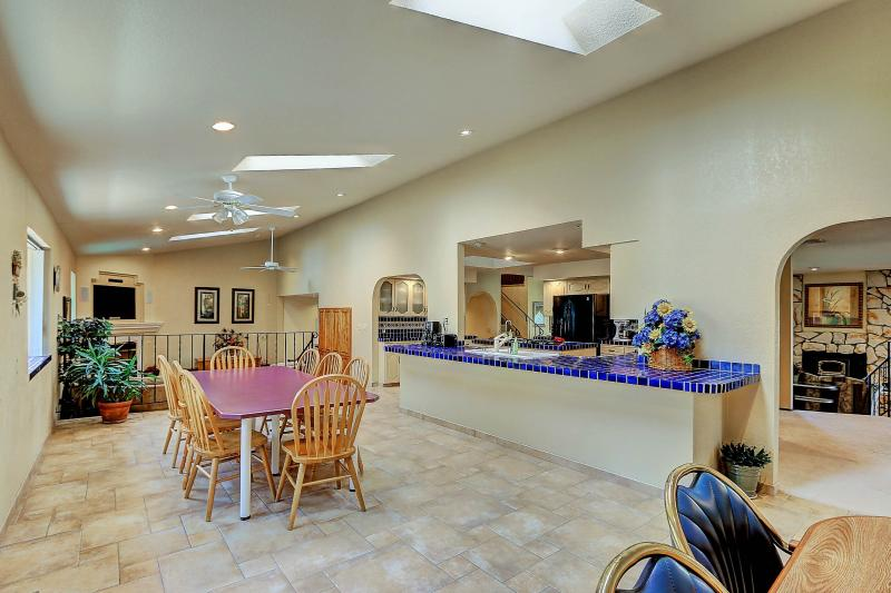 West Coast Villa I Informal Dining Room. Great open room for large groups, corporate meetings