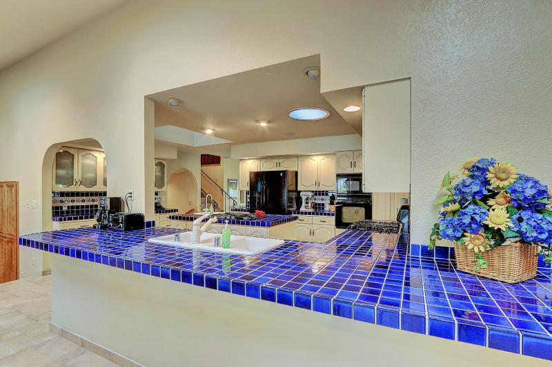 West Coast Villa I Kitchen Counter serving area. Open floor plan. Bright and airy