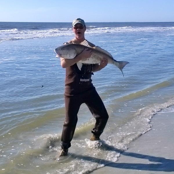 52 pound Redfish caught by guest November, 2015.