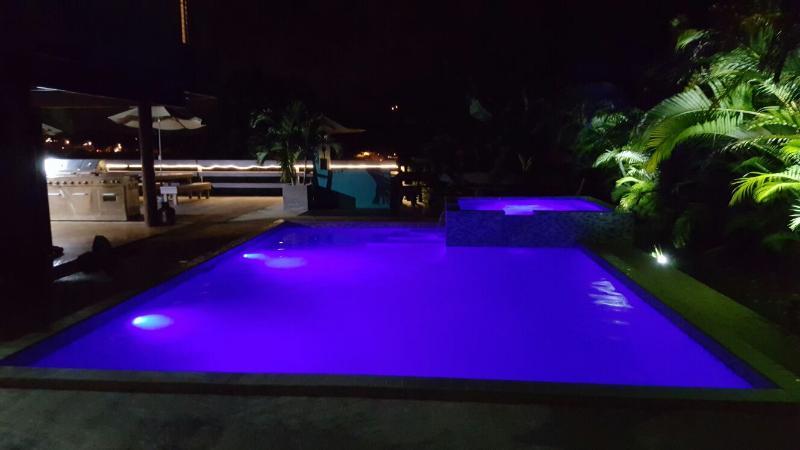 Light pools.