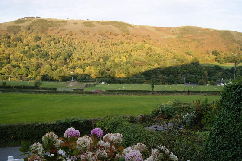 View across the valley from Velvet Cottage front terrace