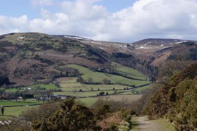 Clwydian Way (ten minutes' walk from Velvet Cottage) in Winter