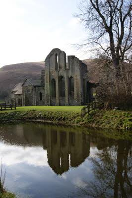Valle Crucis Abbey and carp pond