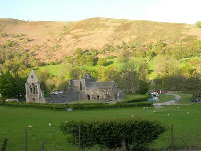 Valle Crucis Abbey in evening sunshine