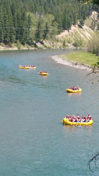 River rafting  on the Flathead river West Glacier.  July 2015