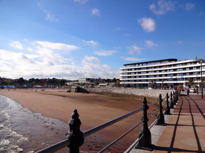 Torre Abbey Sands, only 15 mins walk