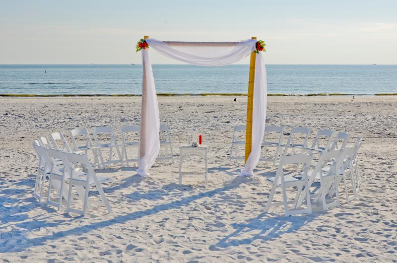 Incredible beach weddings on Sunset Beach across the waterway