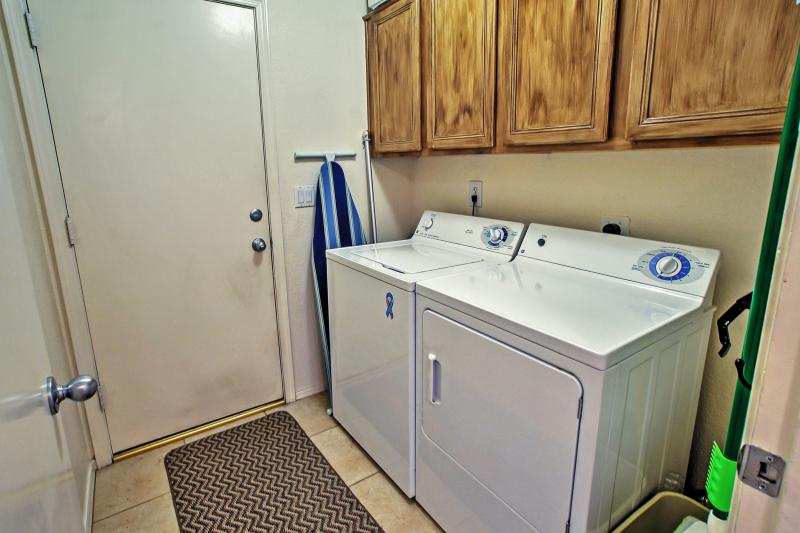 Keep your belongings fresh and clean using the provided laundry machines.