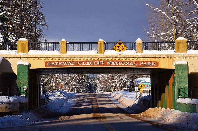 Entrance  to West Glacier