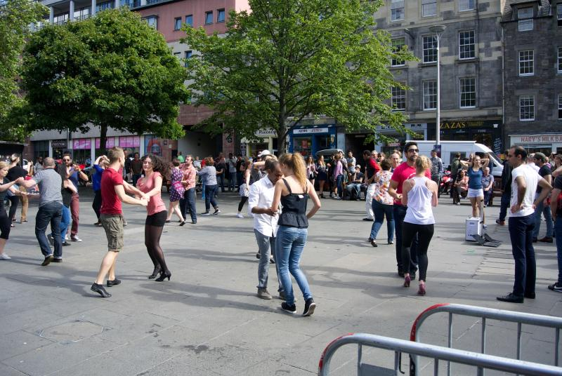 Learn Salsa on the Grassmarket