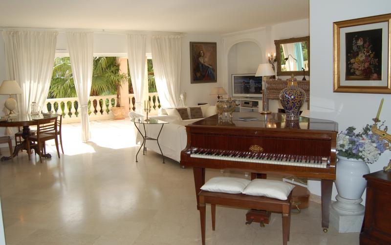 Gran Piano overlooking the living room