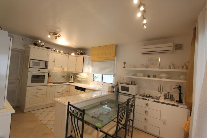 Fully equiped main kitchen : contains lots of storage space including everything necessary