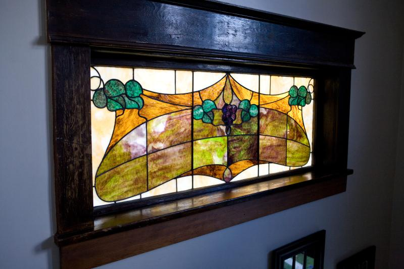 Bee & Thistle Guest House - original stained glass from 1908.