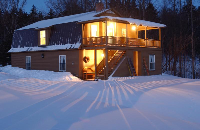Sweet Retreat Guesthouse on a wintry morning.