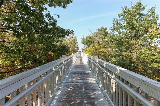 Private boardwalk to Lake Michigan